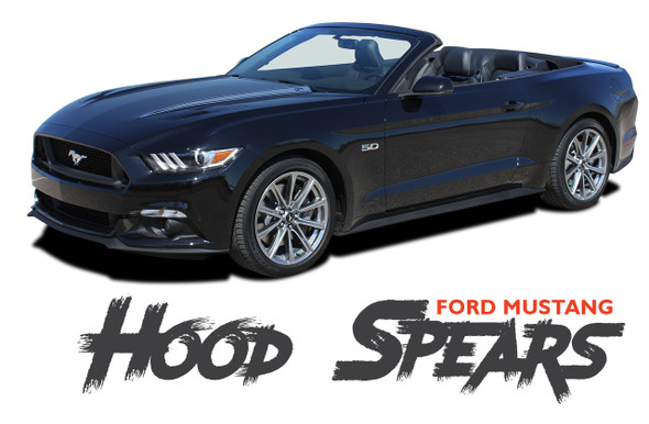 Ford Mustang HOOD SPEARS Spike Accent Vinyl Graphic Decals Stripes Kit 2015 2016 2017