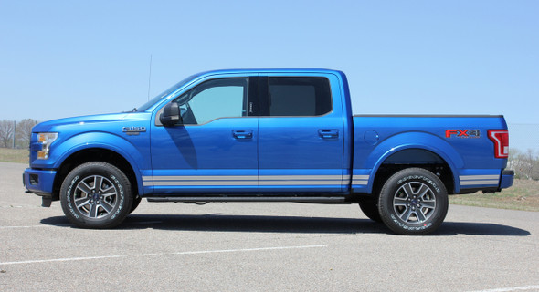 Ford F-150 ROCKER ONE Lower Door Rocker Panel Body Stripes Vinyl Graphic Decals Kit 2015 2016 2017 2018 2019 2020