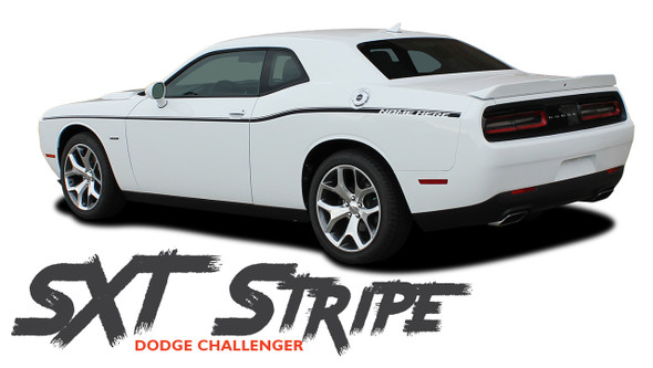 Dodge Challenger SXT SIDE STRIPE Factory OEM Side Door Body Vinyl Graphic Stripes 2011 2012 2013 2014 2015 2016 2017 2018 2019 2020 2021