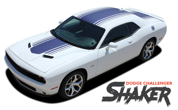 Dodge Challenger SHAKER Factory OEM Shaker Hood Roof Trunk Vinyl Rally Stripe Kit for 2015 2016 2017 2018 2019 2020 2021