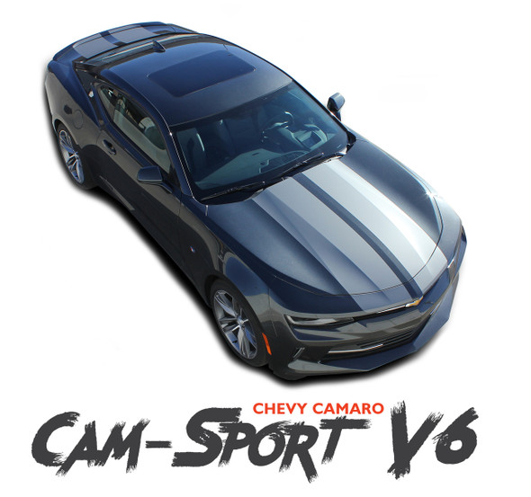 Chevy Camaro CAM-SPORT RS Factory OE Style Rally Racing Stripes Vinyl Graphics Kit fits 2016 2017 2018 RS LS LT V6