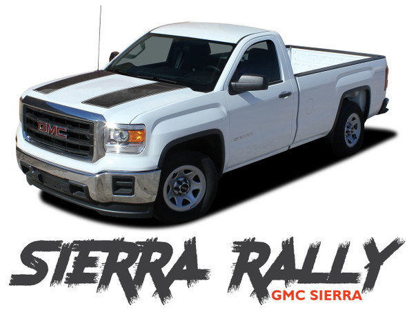 GMC Sierra SIERRA RALLY Rally Edition Style Hood Tailgate Vinyl Graphic Decal Racing Stripe Kit fits 2014 2015 2016 2017 2018