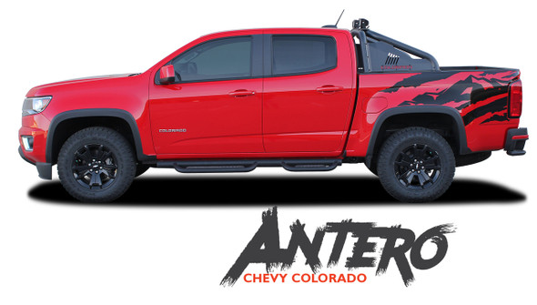 Chevy Colorado ANTERO Rear Truck Bed Accent Vinyl Graphic Decal Stripe Kit 2015 2016 2017 2018 2019 2020