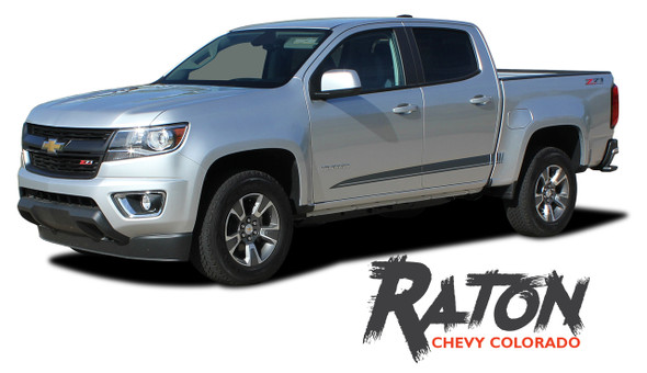 Chevy Colorado RATON Lower Rocker Panel Door Body Accent Vinyl Graphic Factory OEM Style Decal Stripe Kit 2015 2016 2017 2018 2019 2020