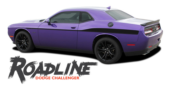 Dodge Challenger ROADLINE Wide Upper Door Body Accent Decals Vinyl Graphics Side Stripes for 2008-2019 2020 2021 Models