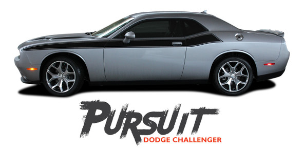 Dodge Challenger PURSUIT Wide Door Vinyl Graphics Side Body T/A 392 Stripes Decals 2011 2012 2013 2014 2015 2016 2017 2018 2019 2020