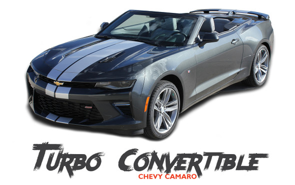 Chevy Camaro TURBO RALLY CONVERTIBLE Bumper Indy Vinyl Graphic Racing Stripes Rally Decals Kit 2016 2017 2018 SS RS V6