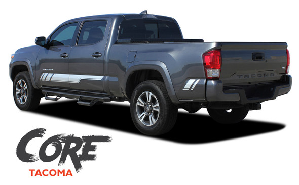 Toyota Tacoma TRD CORE Lower Door Rocker Panel Side Accent Vinyl Graphic Striping Decal Kit for 2015 2016 2017 2018 2019 2020