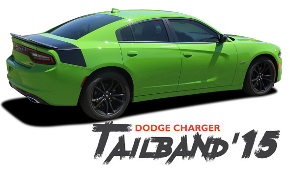 Dodge Charger TAILBAND Daytona R/T SRT 392 Hemi Hellcat Style SE Decklid Trunk Stripe Vinyl Graphics Decals 2015 2016 2017 2018 2019 2020 2021