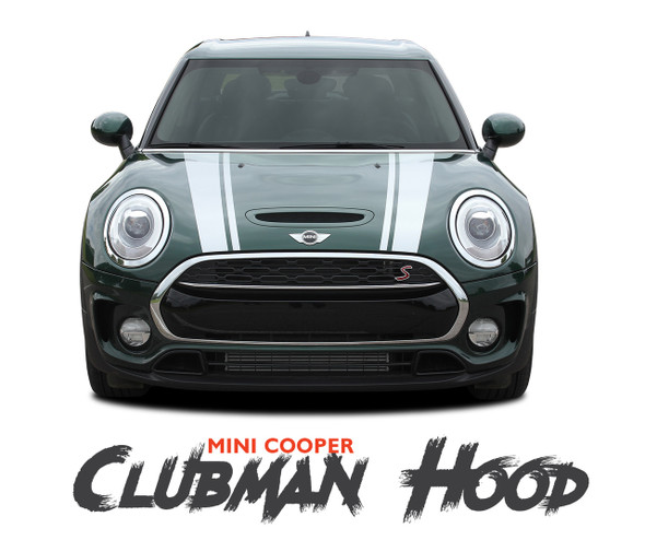 Mini Cooper CLUBMAN S-TYPE HOOD Split Hood Striping Vinyl Graphics Decals Kit 2016 2017 2018