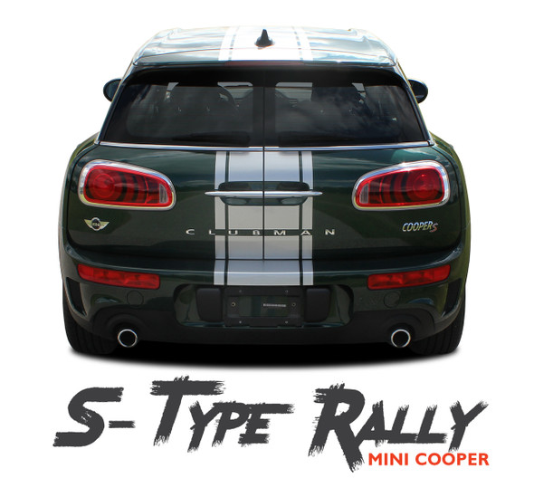 Mini Cooper CLUBMAN S-TYPE RALLY Center Hood Striping Vinyl Graphics Decals Kit 2016 2017 2018