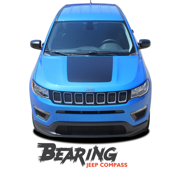 Jeep Compass BEARING SOLID Hood Vinyl Graphics Decal Stripe Kit for 2017 2018 2019 2020 2021
