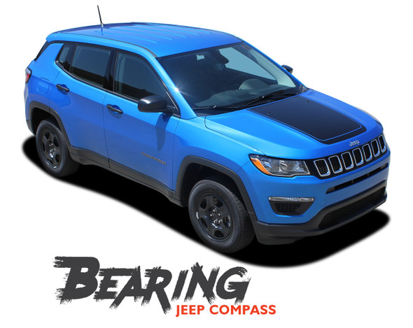 Jeep Compass BEARING VOID Hood Vinyl Graphics Decal Stripe Kit 2017 2018 2019 2020