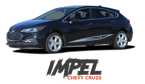 Chevy Cruze IMPEL Rocker Stripes Door Vinyl Graphics Decal Kit for 2016 2017 2018 2019