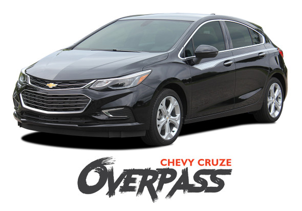 Chevy Cruze OVERPASS Door Stripes Vinyl Graphics Decal Kit for 2016 2017 2018 2019