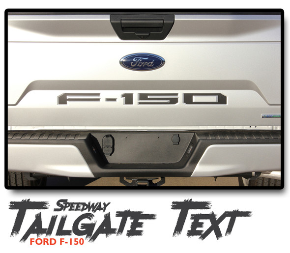Ford F-150 SPEEDWAY TAILGATE TEXT Rear Stripe Vinyl Graphics Decals Kit 2018 2019 2020