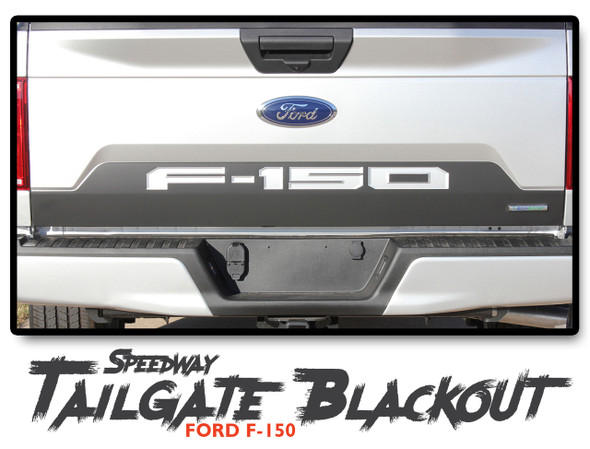 Ford F-150 SPEEDWAY TAILGATE BLACKOUT Rear Stripe Vinyl Graphics Decals Kit 2018 2019 2020