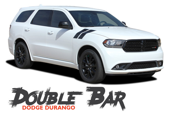 Dodge Durango DOUBLE BAR Hood Hash Marks Slash Stripes Decals Vinyl Graphics Kit 2011-2020 Models