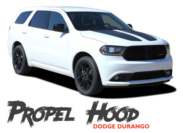 Dodge Durango PROPEL HOOD Dual Double Stripes Decals Vinyl Graphics Kit 2011-2020 Models