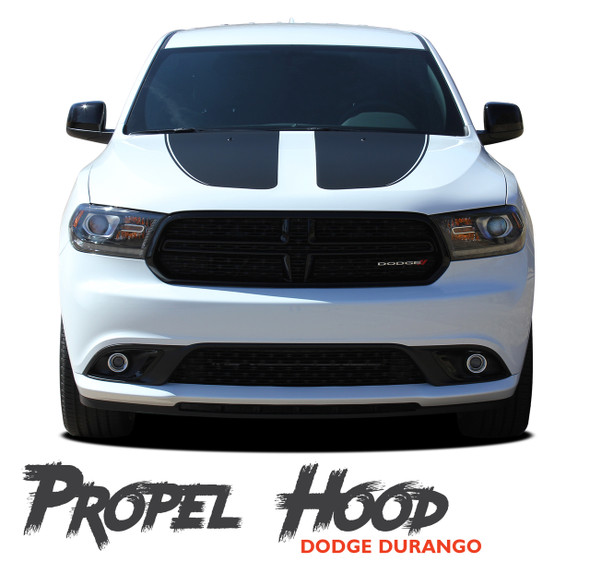 Dodge Durango PROPEL HOOD Dual Double Stripes Decals Vinyl Graphics Kit 2011-2021 Models