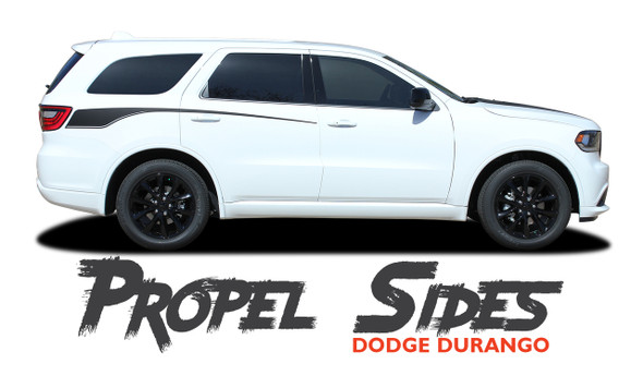 Dodge Durango PROPEL SIDES Rear Door Side Stripes Decals Vinyl Graphics Kit 2011-2021 Models