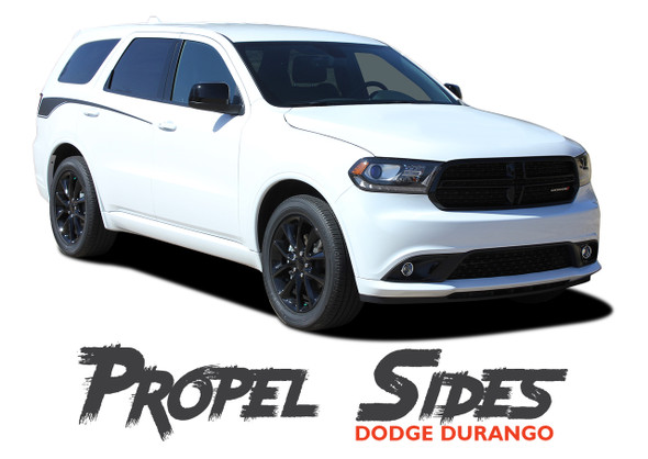 Dodge Durango PROPEL SIDES Rear Door Side Stripes Decals Vinyl Graphics Kit 2011-2020 Models