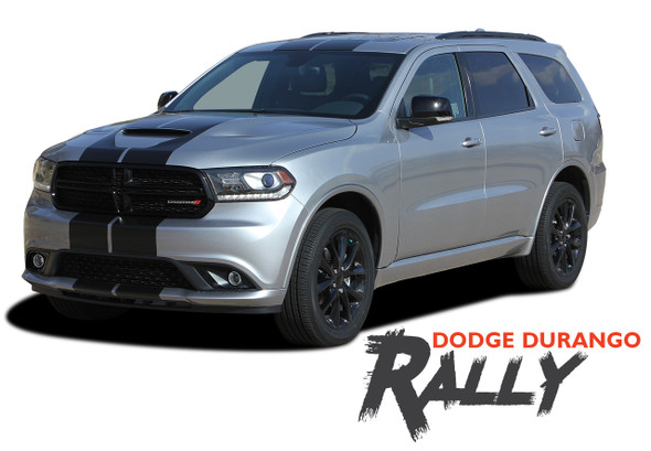 Dodge Durango RALLY Dual Racing Stripes Decals Vinyl Graphics Kit 2014-2020 Models