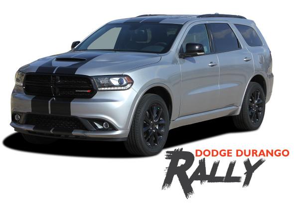 Dodge Durango RALLY Dual Racing Stripes Decals Vinyl Graphics Kit 2014-2020 Models