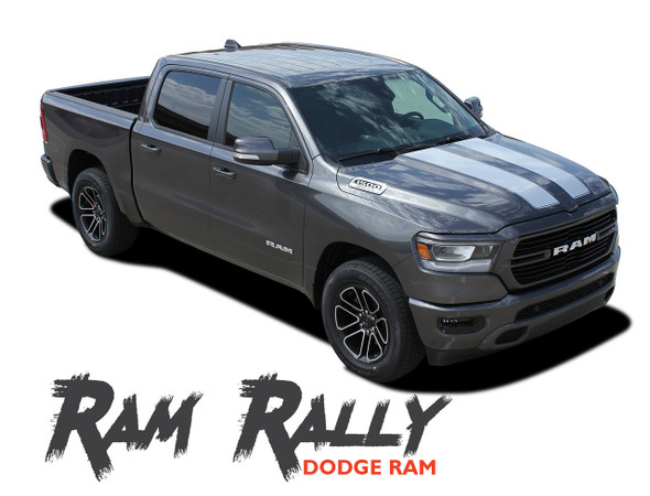 Dodge Ram RALLY Hood Racing Stripes Rear Tailgate Accent Decals Vinyl Graphics Kit 2019 2020 2021 Models