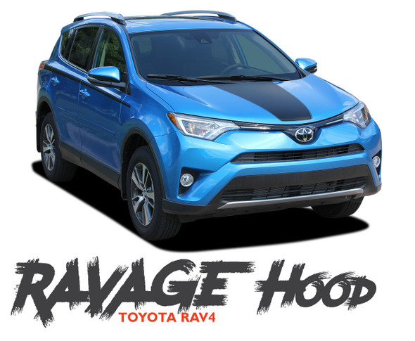 Toyota RAV4 RAVAGE HOOD Decal Accent Trim Vinyl Graphic Stripe Kit 2016 2017 2018 2019