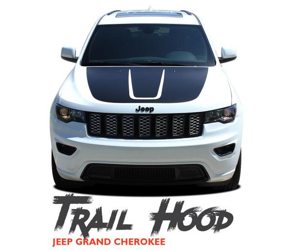 Jeep Grand Cherokee Hood Blackout TRAIL HOOD Vinyl Graphics Decal Stripe Kit 2011-2019 2020 2021