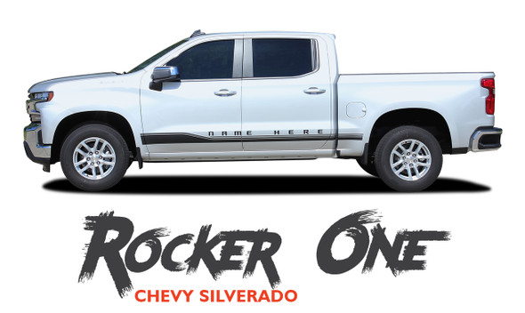 Chevy Silverado Stripes Lower ROCKER ONE Door Decals Rocker Panel Vinyl Graphic Kit fits 2019 2020 2021