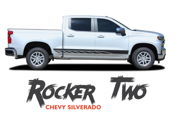 Chevy Silverado Stripes ROCKER TWO Lower Door Decals Rocker Panel Vinyl Graphic Kit fits 2019 2020