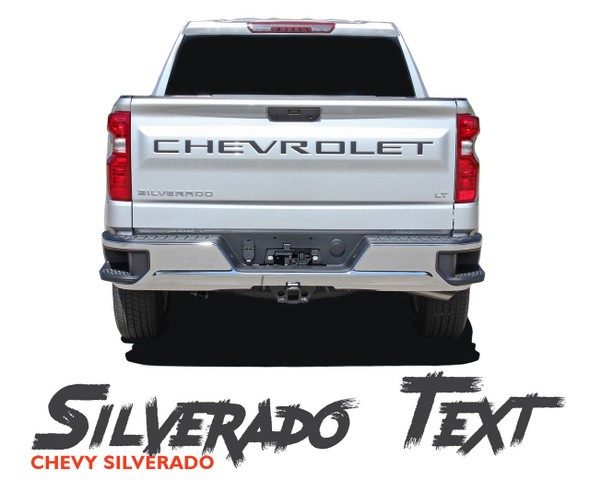 Chevy Silverado Tailgate Decals Rear Tail Gate Text Name CHEVROLET LETTERS Vinyl Graphic Kit for 2019 2020 2021