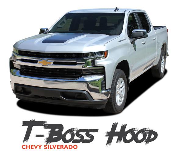 Chevy Silverado Hood Decals Trail Hood T-BOSS HOOD Stripe Vinyl Graphic Kit fits 2019 2020 2021