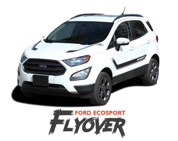 Ford EcoSport Door Stripes and Hood Vinyl Graphics FLYOUT Decal Kit 2013 2014 2015 2016 2017 2018 2019 2020