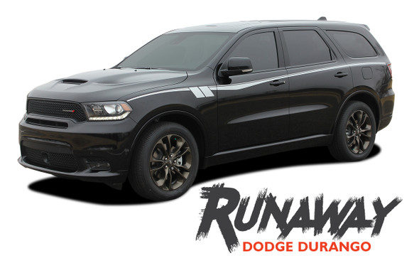 Dodge Durango RUNAWAY Side Door Stripes Decals Vinyl Graphics Kit 2011-2020 2021