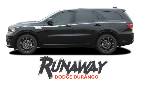 Dodge Durango RUNAWAY Side Door Stripes Decals Vinyl Graphics Kit 2011-2020