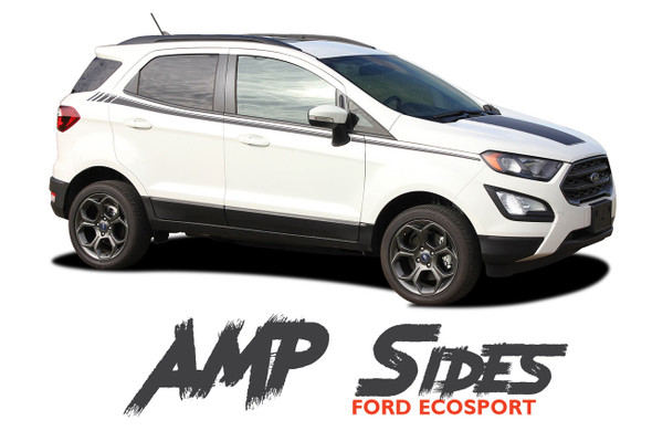 Ford EcoSport Door Stripes Vinyl Graphics AMP SIDES Decal Kit 2013 2014 2015 2016 2017 2018 2019 2020