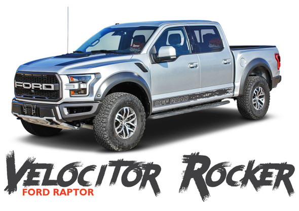 Ford Raptor Rocker Stripes VELOCITOR ROCKER Decals Door Vinyl Graphics Kit 2018 2019 2020