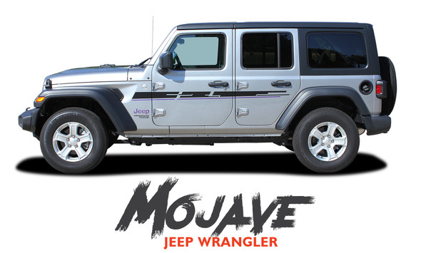 Jeep Wrangler MOJAVE Hood Graphic and Side Door Decals Stripes Kit for 2018-2020 Models
