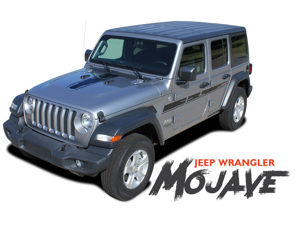 Jeep Wrangler MOJAVE Hood Graphic and Side Door Decals Stripes Kit for 2018 2019 2020 Wrangler Models