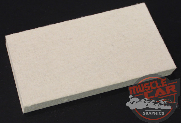 Felt Squeegee for Vinyl Graphics and Stripe Installation Tool