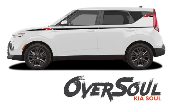Kia Soul OVERSOUL Upper Body Line Accent Striping Vinyl Graphics Decals Kit for 2020 2021