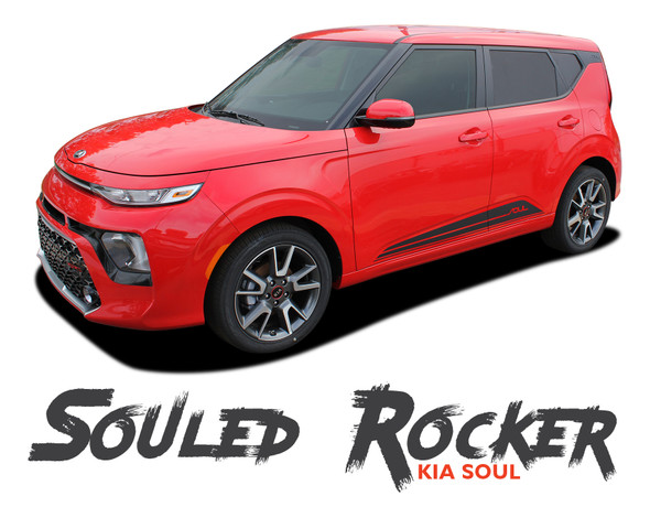 Kia Soul SOULED ROCKER Lower Body Line Accent Striping Vinyl Graphics Decals Kit for 2020 2021
