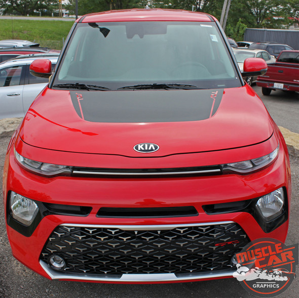Kia Soul SOULED HOOD Decals Blackout Vinyl Graphic Stripes Kit for 2020 2021 2021