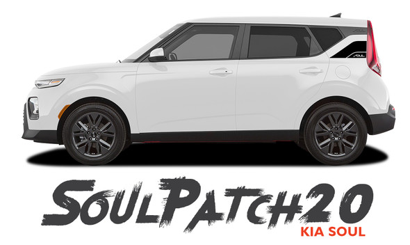 Kia Soul SOUL PATCH 20 Hood Decals and Side Body Vinyl Graphic Stripes Kit for 2020 2021 2021