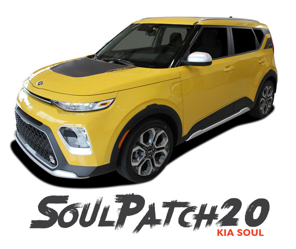 Kia Soul SOUL PATCH 20 Hood Decals and Side Body Vinyl Graphic Stripes Kit for 2020 2021