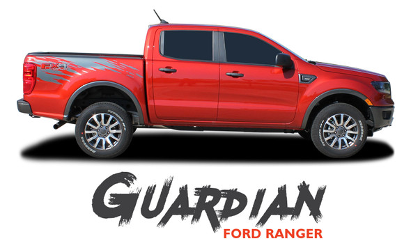 Ford Ranger Bed Stripes GUARDIAN Body Vinyl Graphics Decal Kit 2019 2020 2021 2021