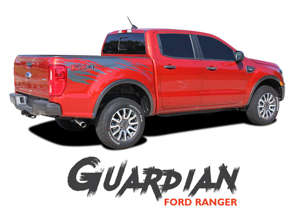 Ford Ranger Bed Stripes GUARDIAN Body Vinyl Graphics Decal Kit 2019 2020 2021